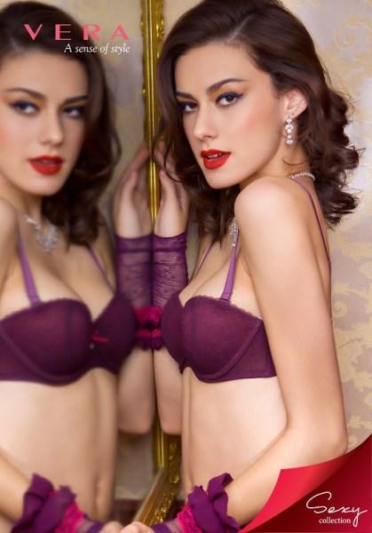 Áo ngực nửa quả Vera vải ren cao cấp AVMCS1406RE