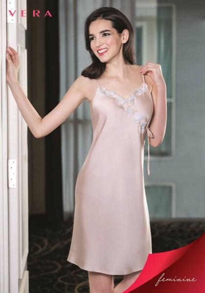 Váy ngủ Vera màu da 2 dây đẹp CVDNS1524ST